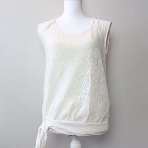 Vanessa Virginia Anthro White Lace Sheer Blouse